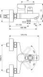 Смесител за вана/душ SevaTop Vidima BC402AA - Схема