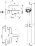 Смесител за вана/душ Calista Vidima B0874AA- схема