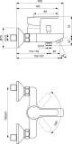 Смесител за вана/душ Calista Vidima B0875AA - схема