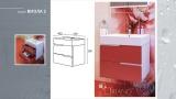 Схема на долен PVC шкаф за баня Канзас