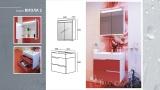 Мебел за баня Виола 2 - скица
