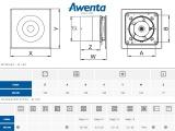 Вентилатор Awenta  WL100- размер