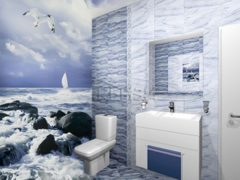 Проект на баня с плочки Gothik Blue