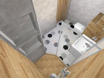 Проект на баня - комбинация от плочки с различни ефекти
